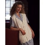 Patons Cotton Sampler lace button vest