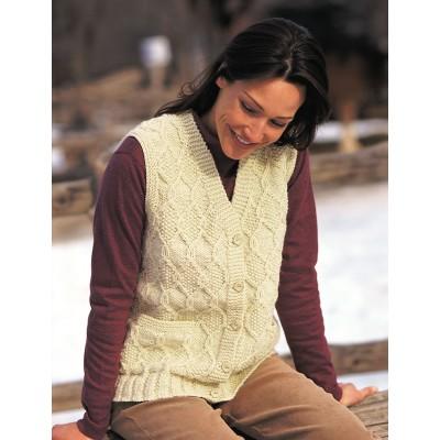 Patons Diamond Texture Vest Free Knitting Pattern