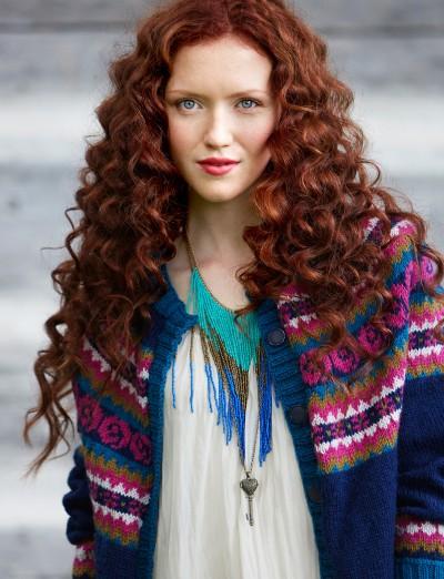 Patons Folksy Yoke Experienced Women's Cardigan Knit Pattern Free 1
