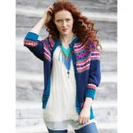 Patons Folksy Yoke Experienced Women's Cardigan Knit Pattern Free