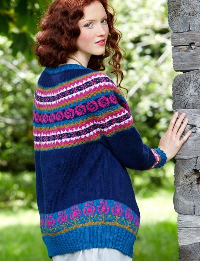 Patons Folksy Yoke Experienced Women's Cardigan Knit Pattern Free 3