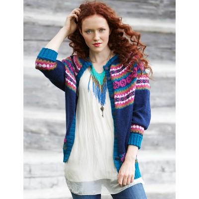 Patons Folksy Yoke Experienced Women's Cardigan Knit Pattern Free