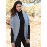 Patons Glam Smart Vest Free Knitting Pattern