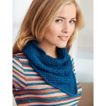 Patons Kerchief Free Easy Women's Scarf Knit Pattern