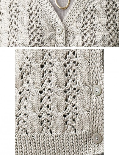 Patons Lace and Cable Cardigan 1