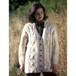Patons Leaf in a Cable Panel Cardigan Free Knit Pattern