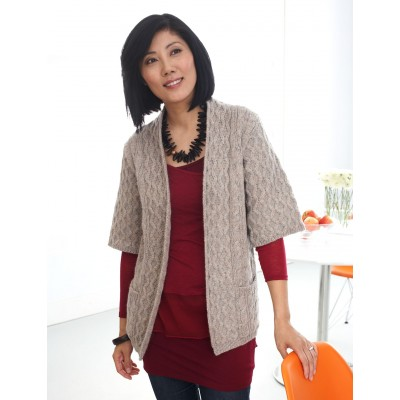 Patons Long Cardigan with Pockets