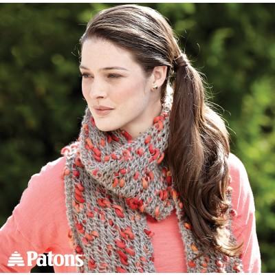 Patons Mesh Lace Scarf Free Knitting Pattern