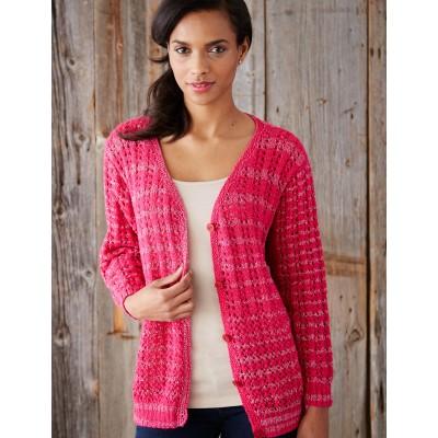Patons Mixed Stitch Cardigan Free Knit Pattern Knitting Bee