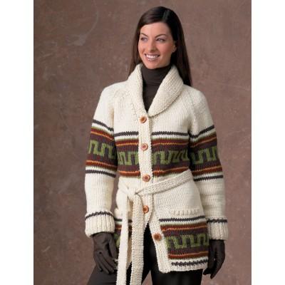 Patons Navajo Cardigan free knitting pattern