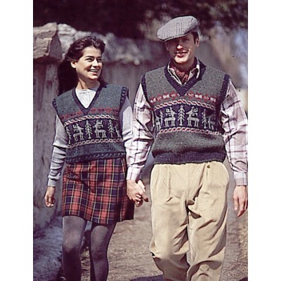 Patons Retro Vests Fair Isle Knitting Pattern Free ⋆ Knitting Bee