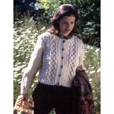 Patons Shortie Cabled Cardigan Free Women's Knit Pattern