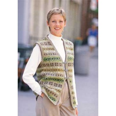 Patons Soft Shades Vest Fair Isle Knit Pattern