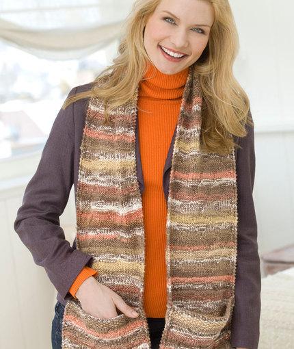 Pocket Scarf Free Knit Pattern