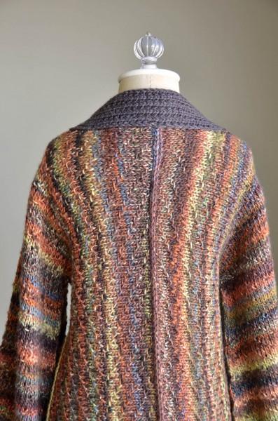 Reika Kimono Cardigan Free Knitting Pattern back