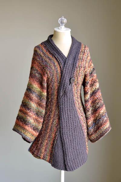 Free free women s kimono style knit pattern Patterns ⋆ Knitting Bee ... 33106c92f