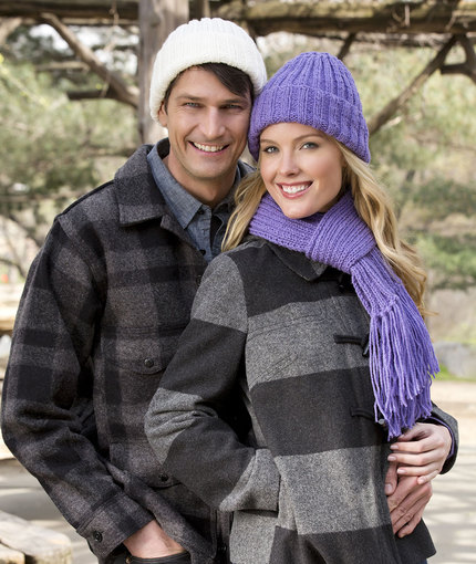 Ribbed Hat and Scarf Easy Knitting Pattern Free