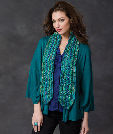 Ripple on the Side Scarf