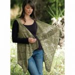 Rose Trellis Shawl Vest Free Knitting Pattern
