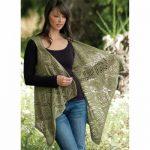 Rose Trellis Shawl Vest Free Knitting Pattern