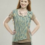 Sailboat Askew Vest Free Knitting Pattern