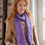 Shimmer Knit & Purl Scarf Free Pattern