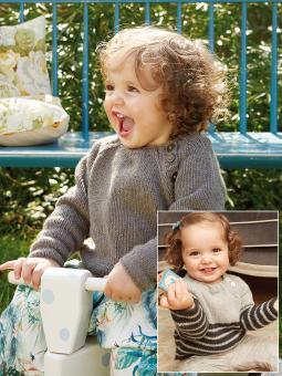 Snowberry Free Raglan Sweater Baby Knitting Pattern
