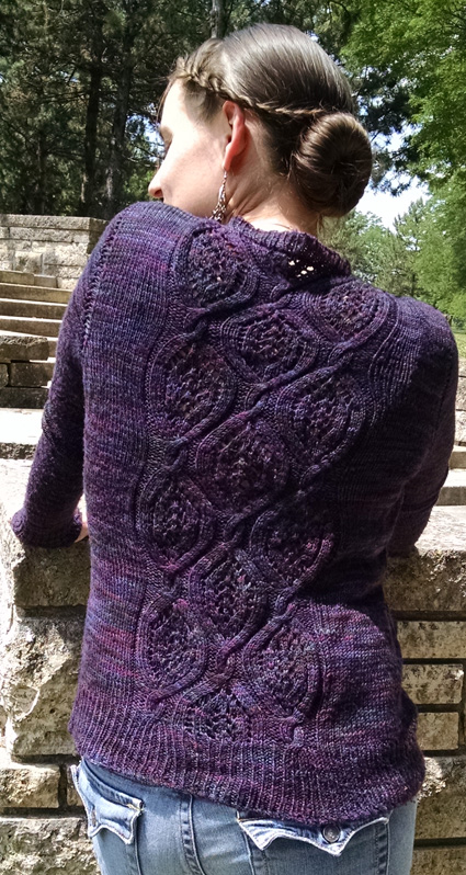 Sofia Knit Cardigan with Cabled Back Pattern