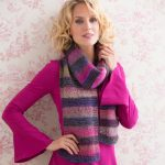 Striped Shaded Scarf Free Knitting Pattern