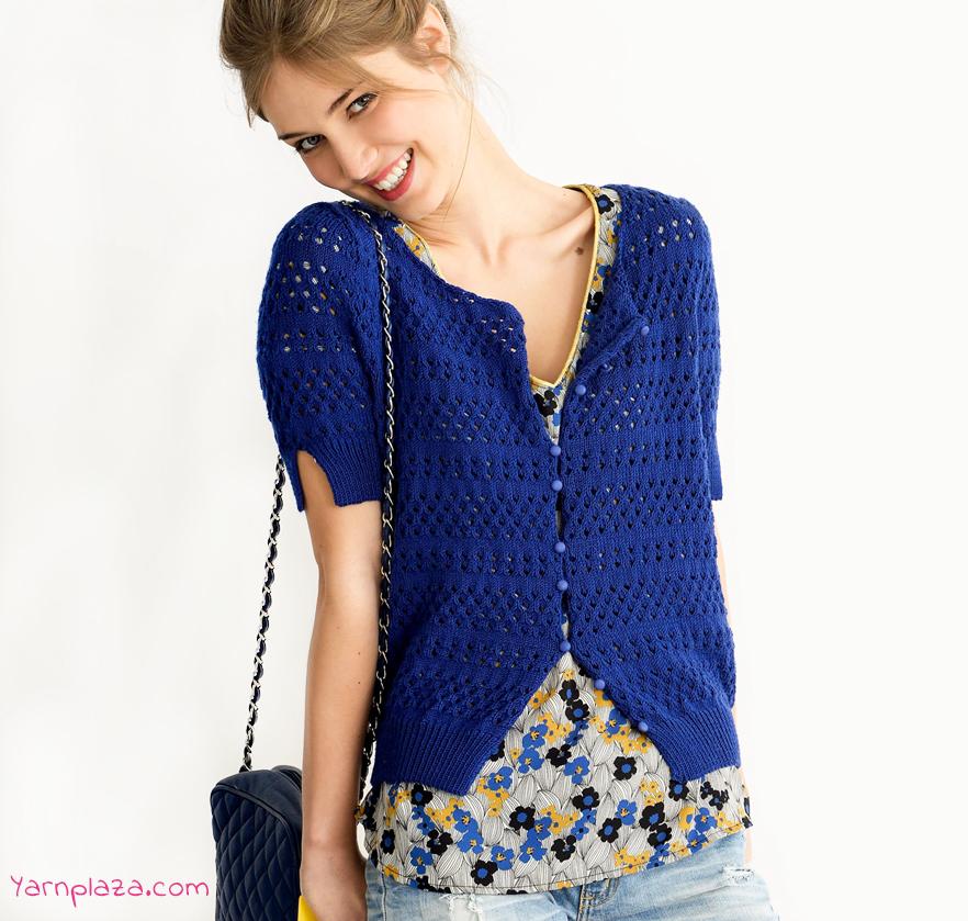 Summer Cardigan - Free Lace Knitting Pattern ⋆ Knitting Bee