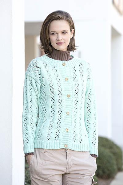 Swirling River Cardigan Free Knit Pattern
