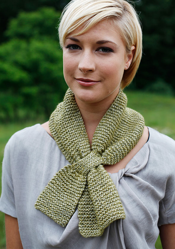 Free free keyhole scarf knitting pattern Patterns ⋆ Knitting Bee (7 ...