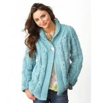 Textured Checks Cardigan Free Intermediate Women's Knit Pattern