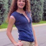 Textured Weekend Vest Free Knitting Pattern