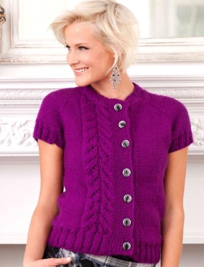 Topside Cardi Free Intermediate Women's Knit Pattern 1