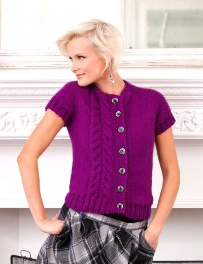 Topside Cardi Free Intermediate Women's Knit Pattern