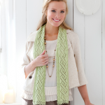 Twisty Lace Scarf Free Knitting Pattern