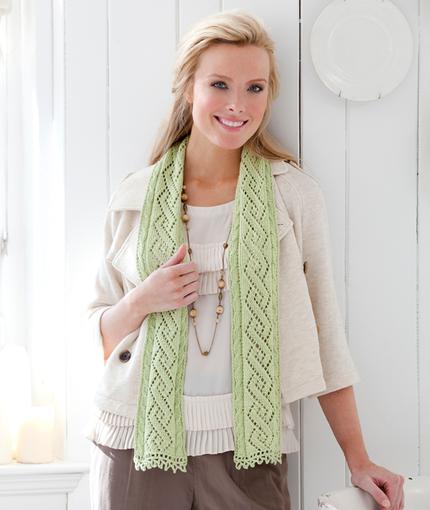 Twisty Lace Scarf Free Knitting Pattern