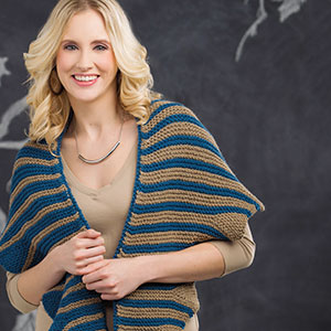 Undulating Waves Graphic Scarf Free Knitting Pattern