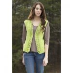 Universal Yarn Spring Leaves Vest Free Knitting Pattern