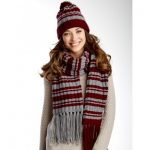 Varsity Stripes Set Hat and Scarf Free Knit Pattern