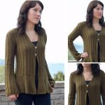 Flared Bottom V-Neck Cardigan