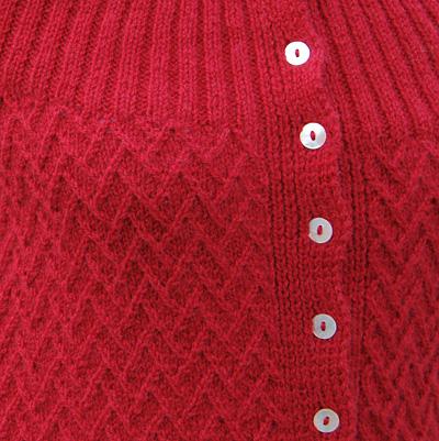 Vines Fractured Lattice Cardigan Free Knitting Pattern stitch