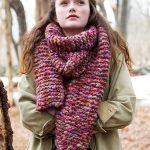 Wood Lily Bulky Garter Stitch Free Scarf Knitting Pattern