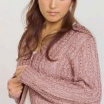 Cabled Silk Cardigan Free Knitting Pattern
