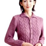 Short Jacket with Cable Motif Free Knitting Pattern