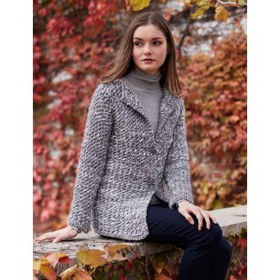 free tweedy cardi knit pattern