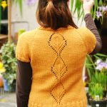 Leaflet Short Sleeves Lace Feature Knit Cardigan Pattern