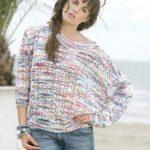 Olga summer lace sweater free knitting pattern
