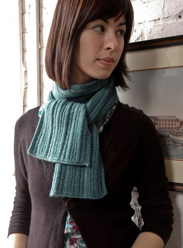ribbed scarf knit pattern free
